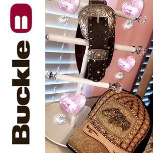 🤠🌸Cute Buckle rhinestones glitzy belt-LN